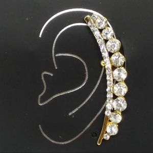 Crystal Rhinestone Ear Cuff Earring Pierced 1068